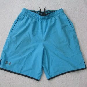 Under Armour Mens Short Loose Style Blue Black Men